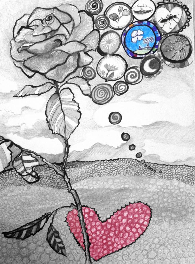 dipinto la bambina e il ciliegio_favola_3