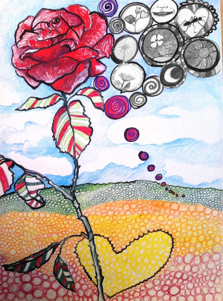 dipinto la città dei fiori_favola_1