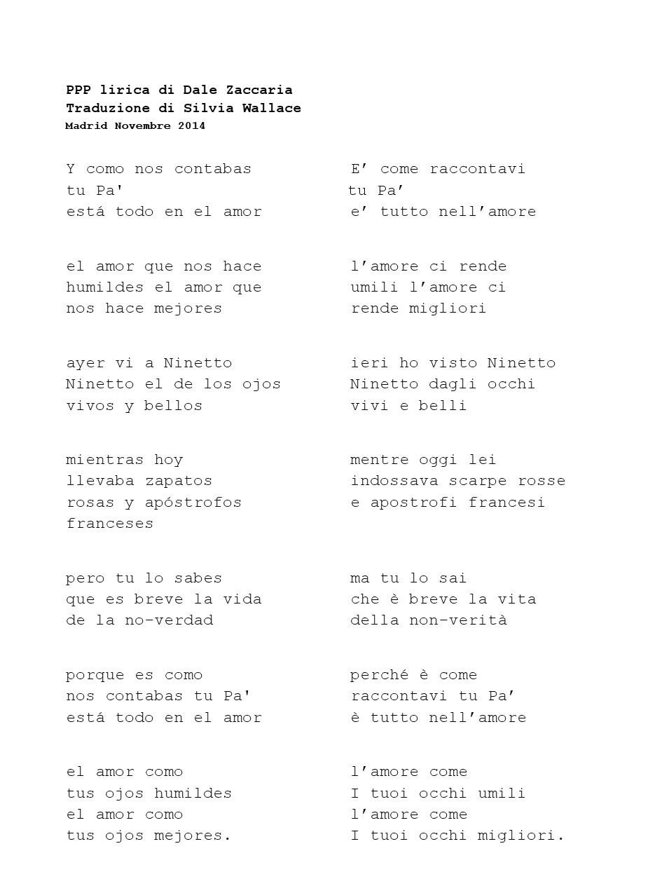 poesia ppp dale zaccaria_traduzione di silvia wallace