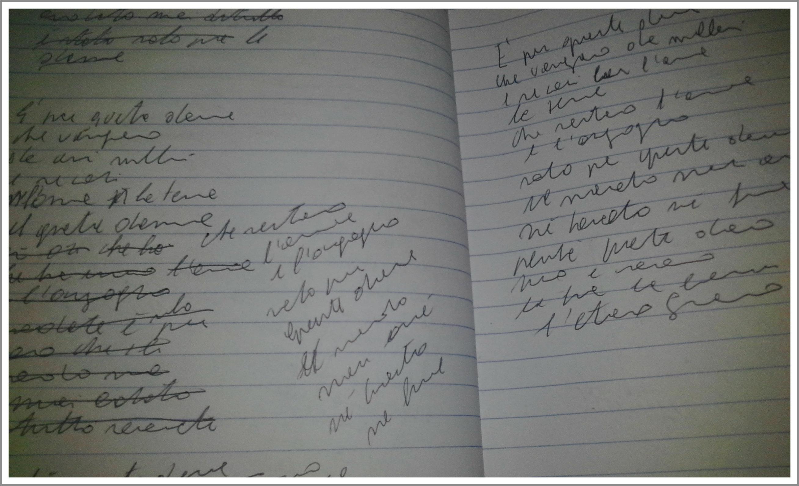 autografo inedito per una passante nuova edizione