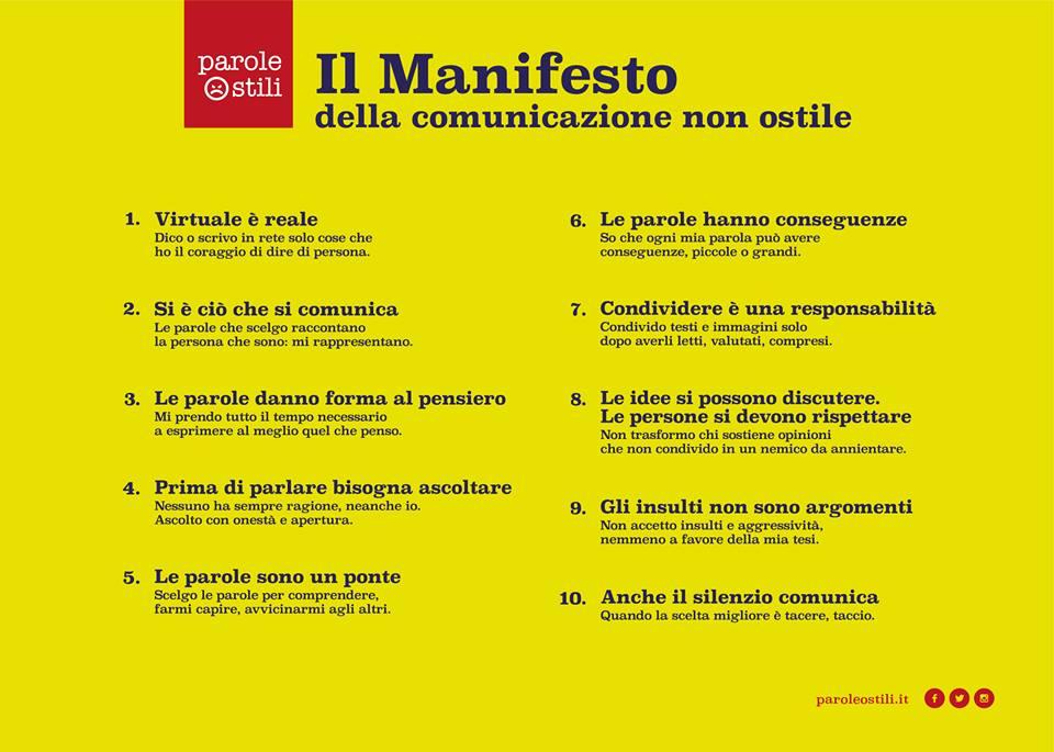 Il Manifesto della comunicazione non ostile